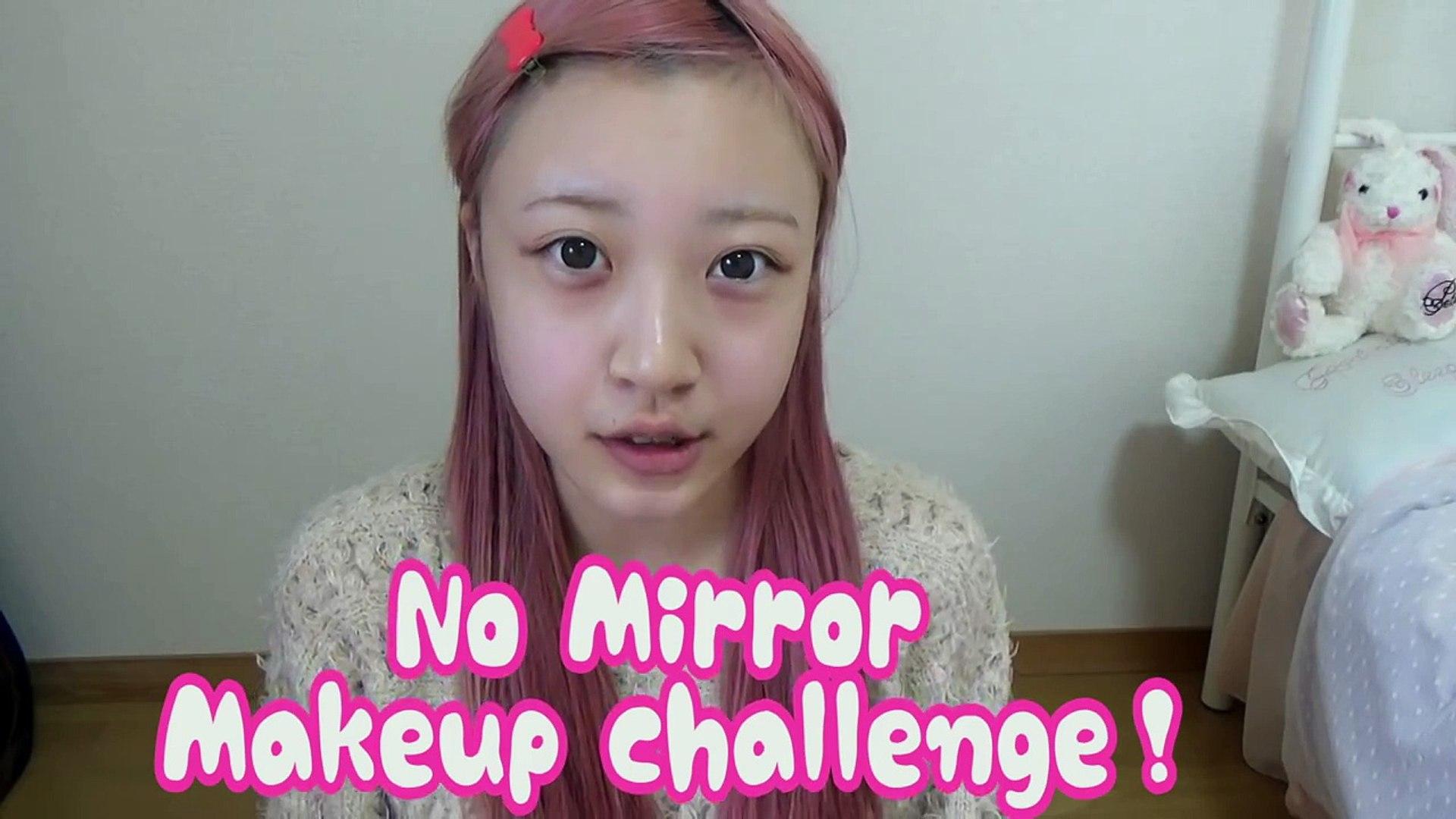 ノーミラーメイク★No Mirror Makeup challenge