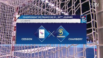 Saison 2015 / 2016 - Journée 20 : Résumé du match Cesson-Rennes / Chambéry