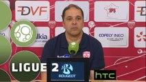 Conférence de presse Dijon FCO - AS Nancy Lorraine (0-0) : Olivier DALL'OGLIO (DFCO) - Pablo  CORREA (ASNL) - 2015/2016