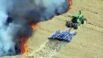 Un agriculteur a risqué sa vie pour sauver 12 hectares de terres agricoles des flammes