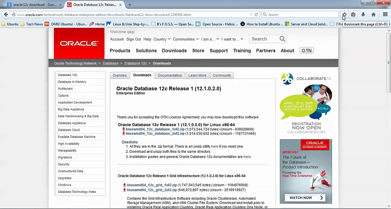 How to Install Oracle Database 12c on Debian 8, Linux Mint 17 2 and Ubuntu  Desktop 15 04/1