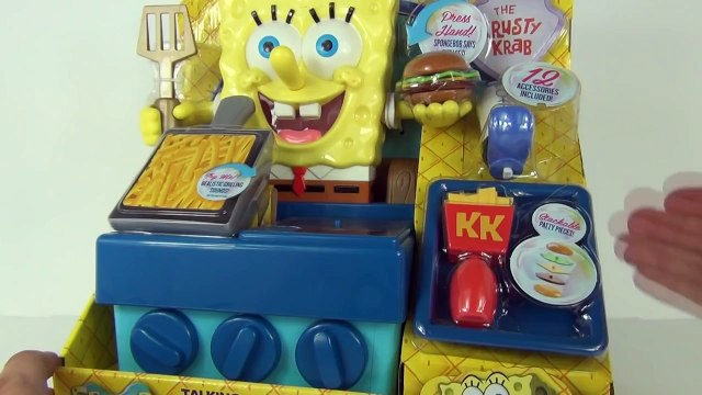 SPONGEBOB SQUAREPANTS Talking Krabby Patty Maker Playset Spongebob TOYS Family Review Vide