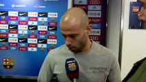 Mascherano and Busquets reflect on the defeat against Real Madrid