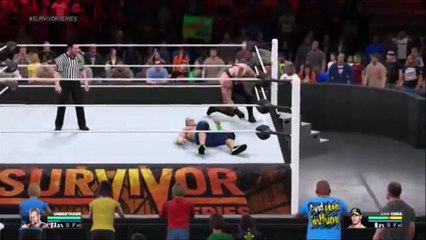 WWE 2K15 undertaker vs john cena wwe world heavy wait champonship