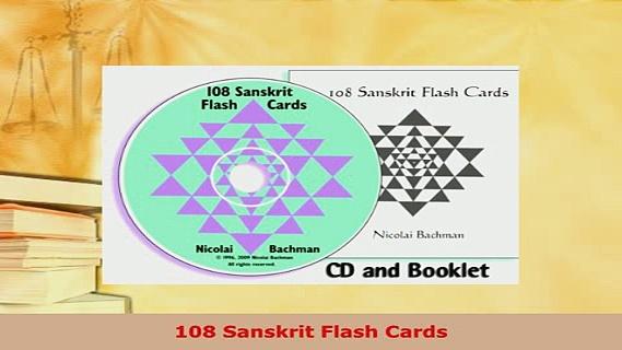 Download  108 Sanskrit Flash Cards Read Online