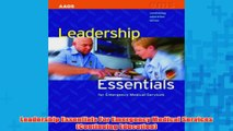 Free   Leadership Essentials For Emergency Medical Services Continuing Education Read Download