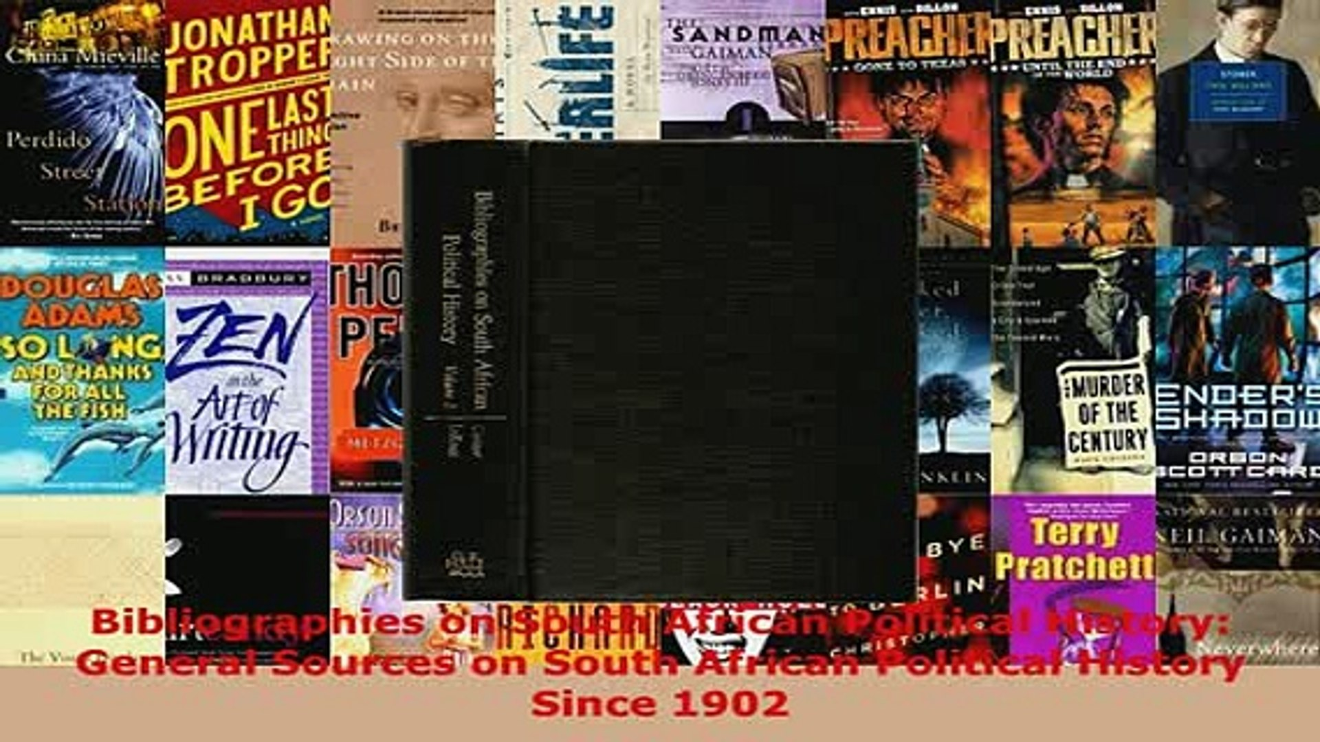PDF  Bibliographies on South African Political History General Sources on South African Download Onl