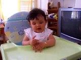 Emma le 7 juin 2007 qui fait bravo et aurevoir