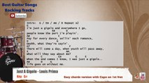 Just a Gigolo - Louis Prima Drums Backing Track with chords and lyrics
