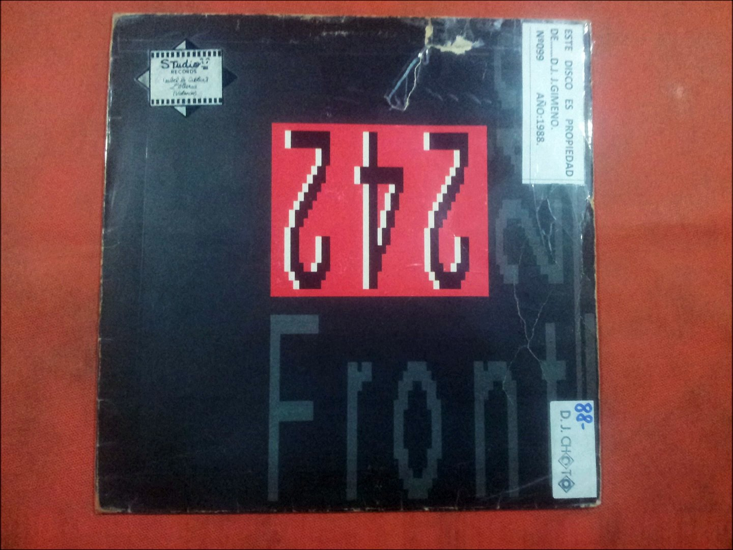 FRONT 242.''FRONT BY FRONT.''.(FIRST IN-FIRST OUT.)(12'' LP.)(1988.)