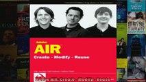 DOWNLOAD PDF  Adobe AIR Create  Modify  Reuse FULL FREE