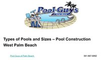 Pool Construction West Palm Beach | Pool Guys of Palm Beach | 561-967-6092