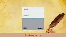 PDF  Die Incoterms Download Online