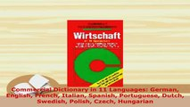Download  Commercial Dictionary in 11 Languages German English French Italian Spanish Portuguese Ebook
