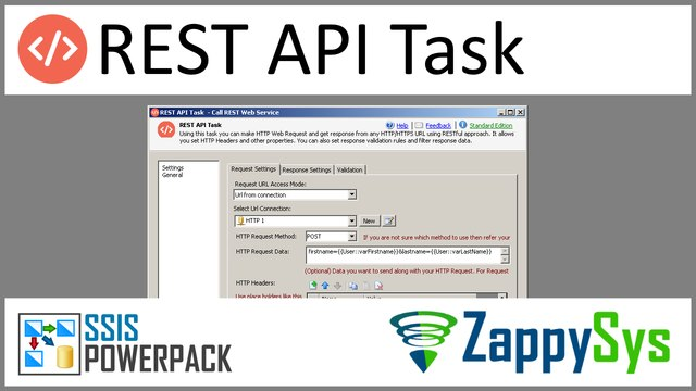 SSIS REST Api Web Service Task (Consume RESTful Service using HTTP GET,  POST)