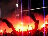 Fumigènes ambiance de feu Gerland ol-nantes 6ème titre sud