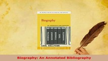 Download  Biography An Annotated Bibliography Free Books