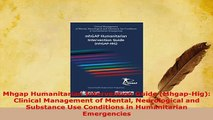 Download  Mhgap Humanitarian Intervention Guide MhgapHig Clinical Management of Mental Free Books