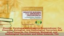 PDF  Disaster Nursing and Emergency Preparedness For Chemical Biological and Radiological Free Books