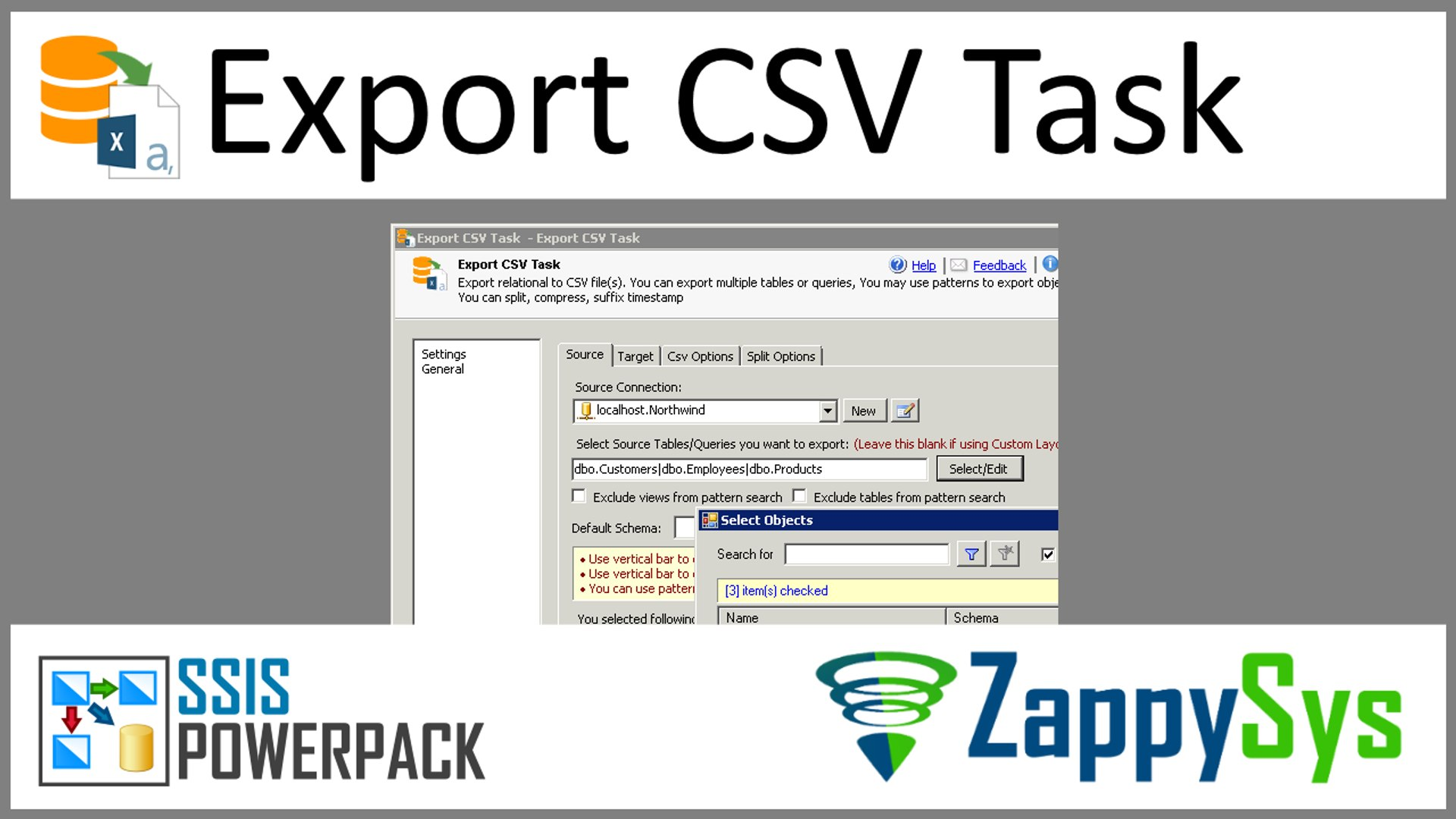 Generate multiple CSV files in SSIS Dynamically (Split by size-rows,  Compress GZip)