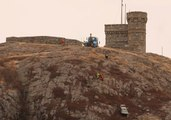 Car Dangles Off Cliff in St. John's, Newfoundland