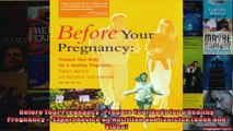 Read  Before Your Pregnancy  Prepare Your Body for a Healthy Pregnancy  Expert Advice on  Full EBook