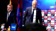 Quand Zinedine Zidane colle son chewing-gum sous la table en pleine conférence de presse du Barça