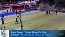 Finale tir rapide en double féminin, 1ère et 2ème places, France Tirs, Sport Boules, Dardilly 2016