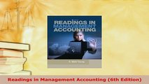 PDF  Readings in Management Accounting 6th Edition Free Books