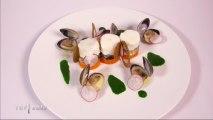 Huîtres en écume de mer et racine de persil du chef Guillemot