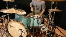 "Remo Vintage A Demo, Gretsch USA Drums, Slingerland Snare, Zildjian 23"" Sweet Ride"