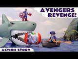 AVENGERS REVENGE! --- Oh No! Playmobil Pirates have taken Spiderman and The Avengers Surprise Capsules! Can Captain America, Hulk and Iron Man help get them back using the Sea Shark? Featuring a Pirate Ship, Falcon, Loki, Star-Lord, Vision and many more!