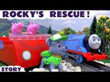 ROCKY'S RESCUE! --- Join Rocky from Paw Patrol and Peppa Pig as Thomas breaks down looking for Mashems, and needs a rescue from Rocky, Featuring Thomas and Friends, Peppa Pig, and many more family fun toys