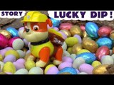 LUCKY DIP! --- Join Rubble and Chase from Paw Patrol, and Thomas and Friends in their Easter egg hunt as they look for Kinder Surprise Eggs Cars, Featuring Peppa Pig, Frozen, My Little Pony, Disney Cars and many more family fun toys!