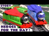 HEROES FOR THE DAY --- Join Thomas and Percy dress up as Batman and Robin to help find Surprise Eggs, Featuring DC Comics Superheroes, Play Doh, Justice League, Spongebob, TMNT, Green Arrow, Disney Cars and many more family fun toys