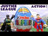 JUSTICE LEAGUE IN ACTION --- Join DC Comics Superheros Batman and Superman with Thomas and Friends as they open surprise eggs and 1 giant kinder egg! Featuring TMNT, Spiderman, Transformers, the Penguin, Riddler, and many more fun family toys