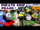 PIRATE SHIP PRANK! --- Join Tom Moss and the Minions in this funny prank toy story, Featuring Thomas and Friends, Pirates, Mega Bloks and many more family fun toys! Second half features a race with Cars, Angry Birds and Star Wars