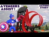 AVENGERS ASSIST! --- The Avengers help Thomas and Friends and the TMNT's find and open Surprise Eggs, featuring Captain America, Thor, Hulk, Iron Man finding Disney Cars, Transformers and many more fun family toys