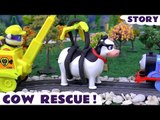 COW RESCUE! --- Join Rubble and Rocky from the Paw Patrol pups in this Funny Rescue toy story as he tries to move a cow, Featuring Thomas and Friends, Play Doh and many more family fun toys! Second half features Spiderman and the Avengers