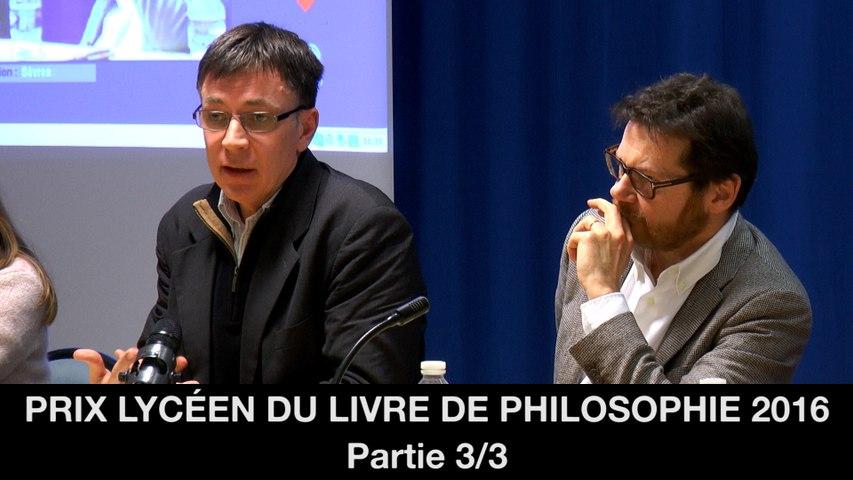 Prix lycéen du livre de philosophie 2016 : 3. Une folle solitude, O. REY, Kitsch dans l'âme, Chr. GENIN
