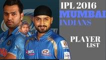 IPL 2016 Mumbai Indians Player List, Mumbai Full Player List  Rohit Sharma In Mumbai Indians