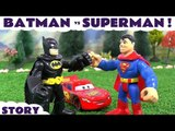 Batman vs Superman with Cars and Avengers Captain America v Iron Man Hulk KIds Toys Fun Race