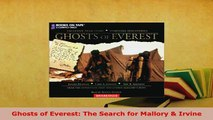 PDF  Ghosts of Everest The Search for Mallory  Irvine Free Books