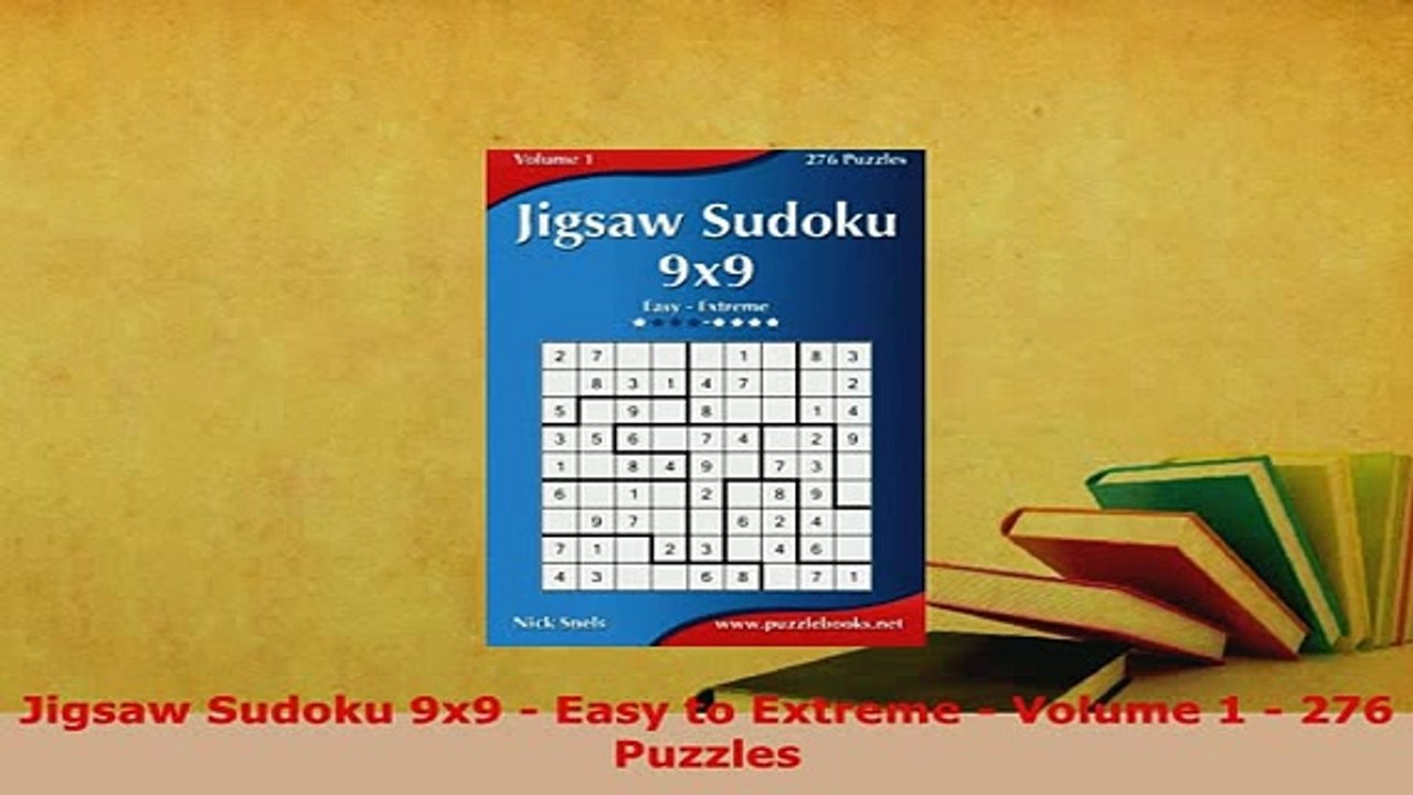 Download Jigsaw Sudoku 9x9 Easy to Extreme Volume 1 276 Puzzles Ebook