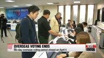 Overseas voting ends, as at-sea voting gets underway