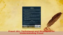 Read  Fraud 101 Techniques and Strategies for Understanding Fraud Ebook Free
