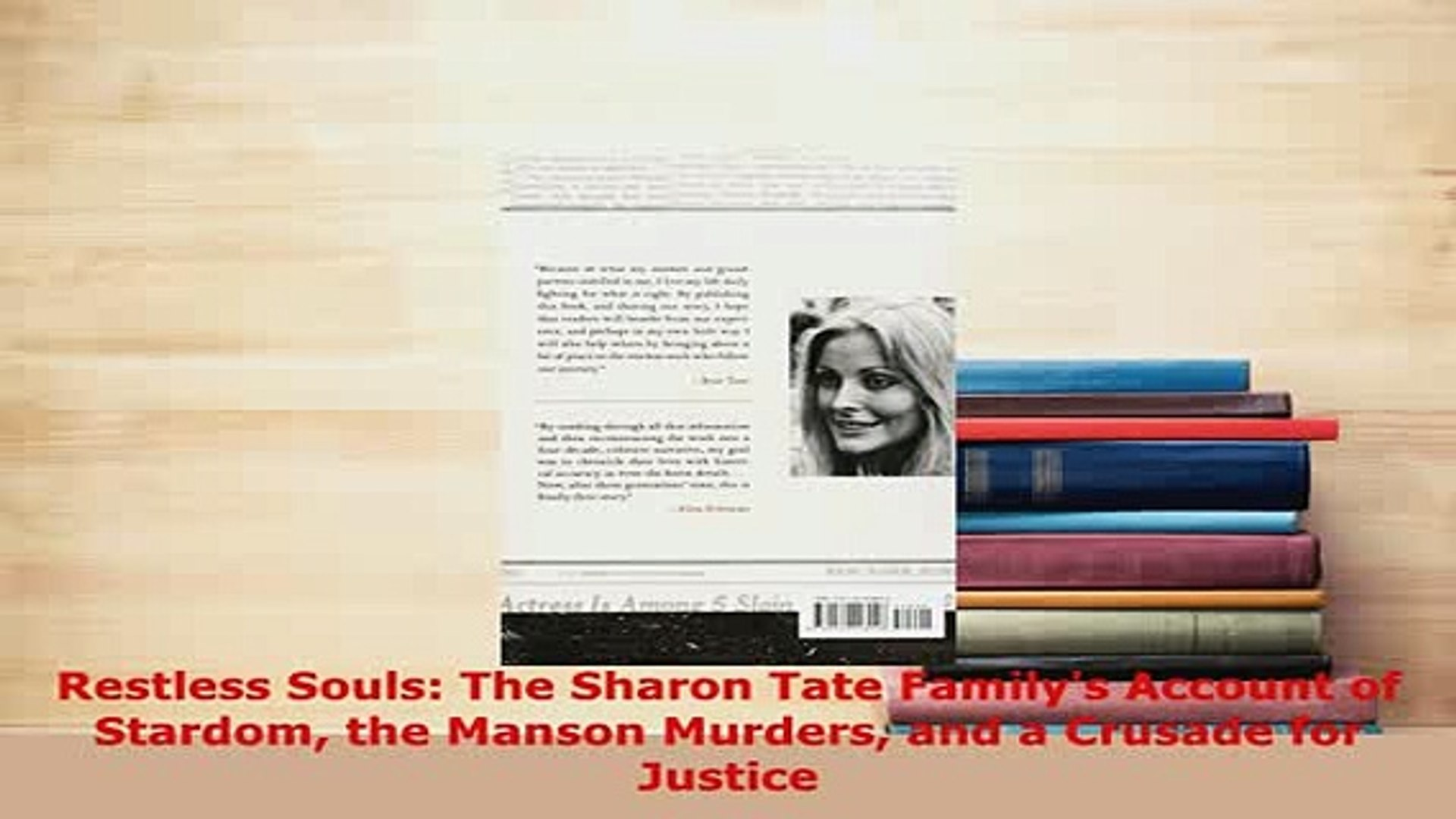 PDF Restless Souls The Sharon Tate Familys Account of Stardom the Manson  Murders and a Free Books
