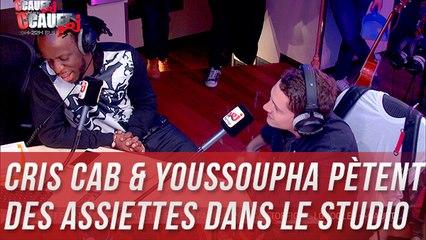 Cris Cab & Youssoupha pètent des assiettes dans le studio - C'Cauet sur NRJ