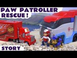 Paw Patrol Paw Patroller Cars and Minions Rescue Story Mack | Juguetes de Patrulla Canina Kids Toys