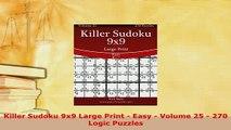 PDF Killer Sudoku 9x9 Versão Ampliada Fácil Volume 25 270